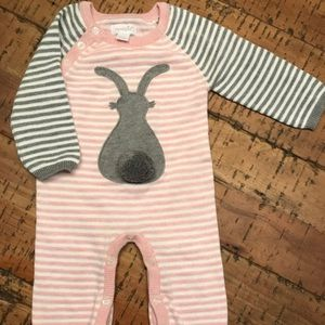 Knit Easter/bunny baby Onesie